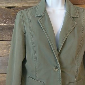 Mossissue army green blazer jacket size medium